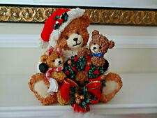 TRADITIONS CHRISTMAS TEDDY BEAR STOCKING & STOCKING HOLDER SET