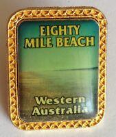 Eighty Mile Beach Western Australia Pin Badge Souvenir Rare Vintage (G5)