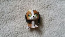 Littlest Pet Shop #113 Dog Beagle White Brown with Green Eyes and Freckles