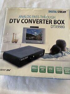 Digital Stream DTX9980 Analog Pass-Through DTV Converter Black