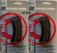 Lot of 2 - Savage Arms Mark II Series 10 Round Magazine .22LR .17HM2 10rd 20005