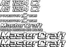 2 Color MasterCraft Prostar 205 Full set #4 w/Matching Boat Registration Numbers