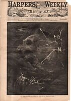 1878 Harper's Weekly Original print June 1 - Nast-Blowing the world up for peace