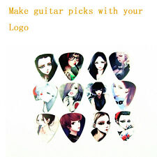 100pcs CUSTOM -  Guitar Pick, Acoustic, Electric, Bass 0.46mm/0.71mm/1.0mm