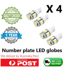 4X T10 5050 SMD 10LED WHITE W5W WEDGE TAIL SIDE CAR LIGHTS TURN PARKER BULB