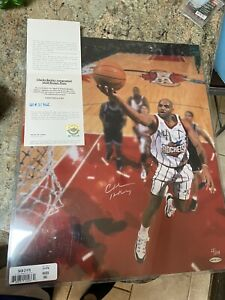 CHARLES BARKLEY Signed Autograph Rockets 🚀16x20 Basketball Photo UD 11/104
