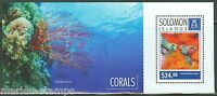 SOLOMON ISLANDS  2014 CORALS  SOUVENIR SHEET  MINT NH