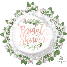 """Bridal Shower Leaves 30"""" Foil Balloon Big Wedding Bride To Be Party Decorations"""