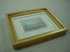 Bilderrahmen mit Stich von der Weltausstellung 1862 in London. Breiter Ramen.