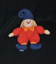 Peluche doudou clown lutin STERNTALER rouge bleu noeud orange bonnet grelot TTBE