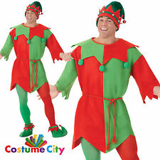Adulto Para Hombre Navidad Mágica Elf túnica festivo Fiesta De Disfraces Disfraz