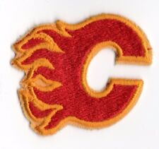 Vintage 1980's Calgary Flames Sew or Stick On Logo Patch NHL