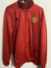 adidas Soccer Manchester United Track Jacket Red XL men NEW