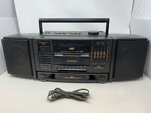 JVC PC-V66 Portable Component System Boombox Radio Cassette Player Equalizer