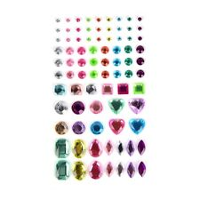 1 Sheet Decal Scrapbooking Self Adhesive Rhinestone Bling Stickers Crystal 3c Multicolour1