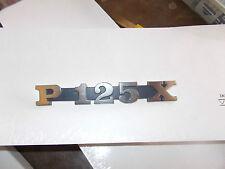 """TARGHETTA """"P 125 X """" PER COFANO LATERALE PIAGGIO VESPA PX 125"""