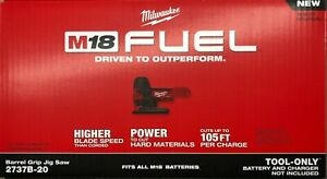 Milwaukee 2737B-20 M18 Fuel Barrel Grip Jig Saw New in box (bare)