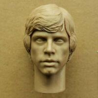 Blank 1/6 Scale Star Wars Luke Skywalker Removable Head Sculpt Unpainted A Style