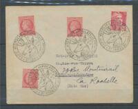 1947 lettre obl. Histoire et Philatélie St fargeau C461 C461