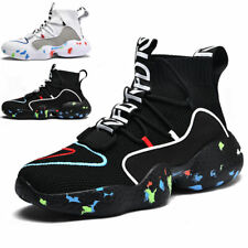 Men's Fashion Running Shoes Outdoor High Top Lightweight Sports Tennis Sneakers