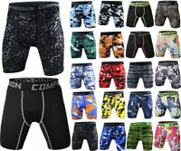 Mens Gym Sports Compression Shorts Wear Under Base Layer Pants Athletic Tights