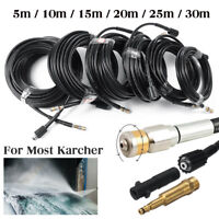 5800PSI High Pressure Washer Hose Pipe Watering 40MPa Karcher Series 2xAdapter