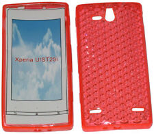 Patrón cubierta suave Gel caso Protector para Sony Ericsson Xperia U ST25i Naranja UK