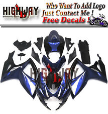 Fairings Fit Suzuki GSXR600 750 2006 2007 ABS Fairing Kit Bodywork Blue Black bz