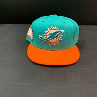 MIAMI DOLPHINS TEAM ISSUED NEW ERA FITTED SIDELINE PLAYER HAT MULTIPLE SIZES