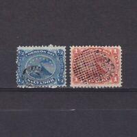 EL SALVADOR 1874, Sc #5-6, CV $40, MH/Used