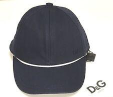 D&G New Boys BABY Cotton LOGO BASEBALL CAP HAT CONTRAST TRIM 6-12m RTL $40 Q339
