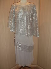 VEROMIA DRESSED UP SUIT SIZE 16 MOTHER OF THE BRIDE BRAND NEW SILVER