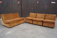 60er Vintage Modul Sofa Cord Ecksofa Danish Couch 5x Sitz Elemente