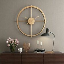 European Style Silent Wall Clock Modern Design 3D Home Decorative Hanging Watch