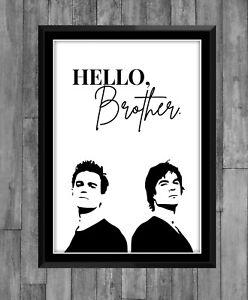 The Vampire Diaries Print Damon Stefan Salvatore Series Poster Wall Decor Gift