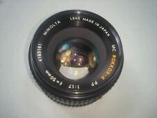 Minolta MC Rokkor-X PF 50mm f1.7 normal lens  GD Cond! #4183161