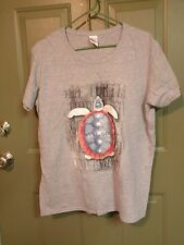 Ladies American Turtle Gray T-Shirt, SS  XL  EUC