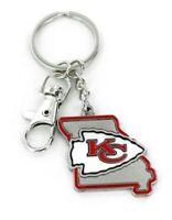 Kansas City Chiefs Keychain State Design