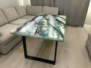 Stone effect Epoxy Resin large Dinning table, 1500x900mm