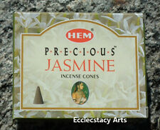 Hem Precious Jasmine Incense Cones, 1 Pack of 10 Cones, NEW  {:-)