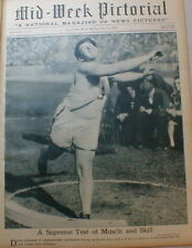 Track & Field Shot Put 1929 Red Grange Football - Womens Sports Golf Rowing Swim