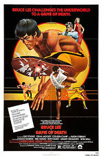 Game of Death - Bruce Lee - A4 Laminated Mini Movie Poster