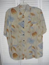 KATHE CHE ecru print S/S blouse sz 18
