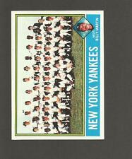 1976 TOPPS # 17 NY YANKEES TEAM CARD BILLY MARTIN MANAGER UNMARKED CHECKLIST