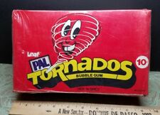 NOS SEALED BOX GRAPHIC 3D VINTAGE 48 CT LEAF PAL TORNADOS BUBBLE GUM HOT N SPICY