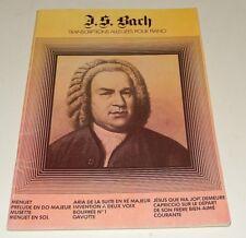 J. S. BACH : Recueil Transcriptions allégées pour PIANO - Musical EP 1974