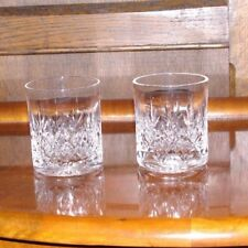 a Pair of Cut Crystal WhiskyTumblers Spirit & Mixer Glasses