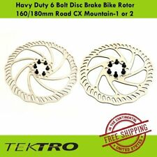 Tektro Havy Duty 6 Bolt Disc Brake Bike Rotor 160/180mm Road CX Mountain-1 or 2