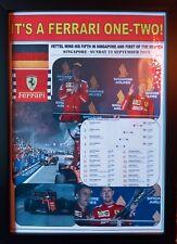 Sebastian Vettel 2019 F1 Singapore Grand Prix winner - Ferrari - framed print