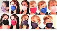 Cotton Face Mask Adult Kids Child Size Filter Pocket Nose Support  Washable